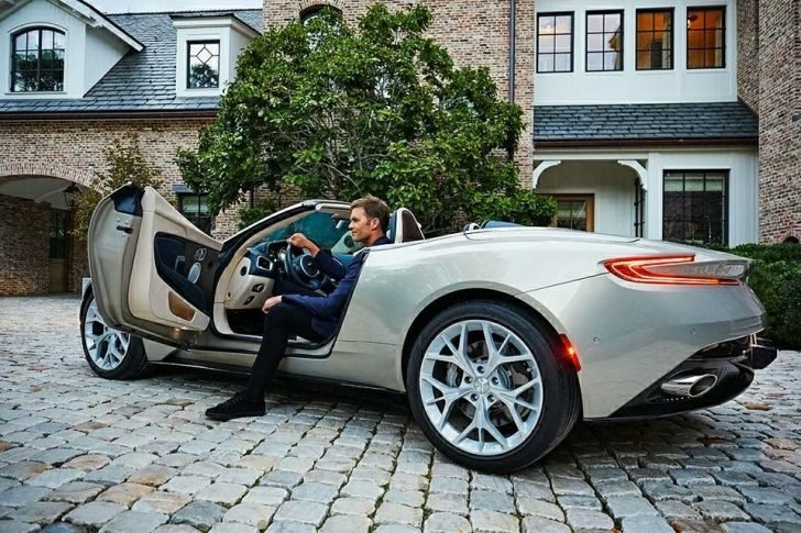 Tom Brady has been a long-time and loyal Aston Martin customer for years, and he drives his DB11 car frequently.