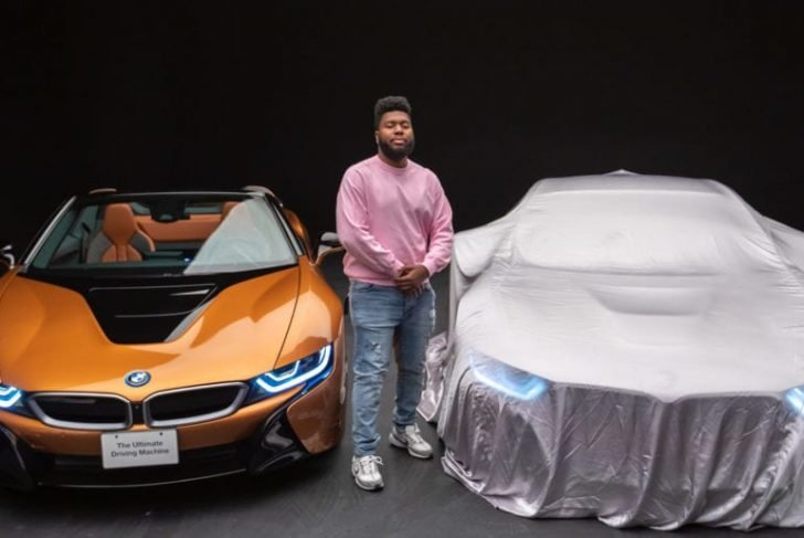 Khalid made a grand entrance at the legendary music festival by riding his two luxurious car models,