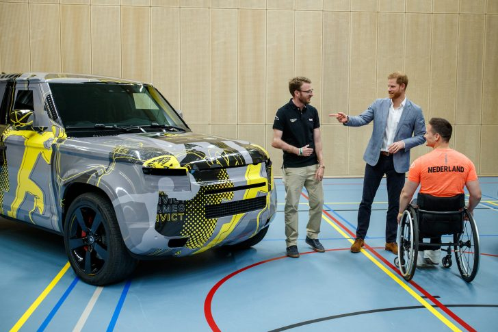 Prince Harry can't contain his excitement in driving his 2020 Defender.